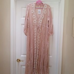Free people  blush embroidered dress